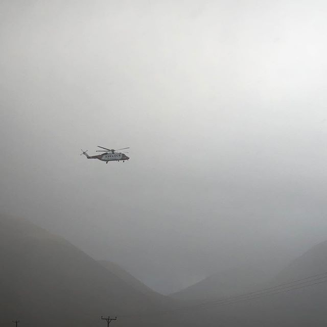 Scotland's Skye Mountain Rescue and Coast Guard Helicopter flying in the mist. Saw them hovering right at the top of a mountain… super close and cool • • • • #backpacking #adventure #travel  #mothernature #explore #mountains #nofilter #scotland #uk #explorescotland #helicopter #sar #searchandrescue #aviation
