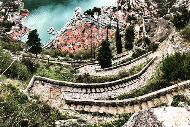 A little hike to Kotor Castle and Fortress, Montenegro 🇲🇪 • • • • #backpacking #adventure #traveler #travel  #mothernature #explore #traveltogether #lifewelltravelled #traveloften #explore #panorama #hitchhiking #wildcamping #kotor #kotormontenegro #kotorfortress #montenegro #exploremontenegro #adriatic #fortress #hiking #balkan #balkans