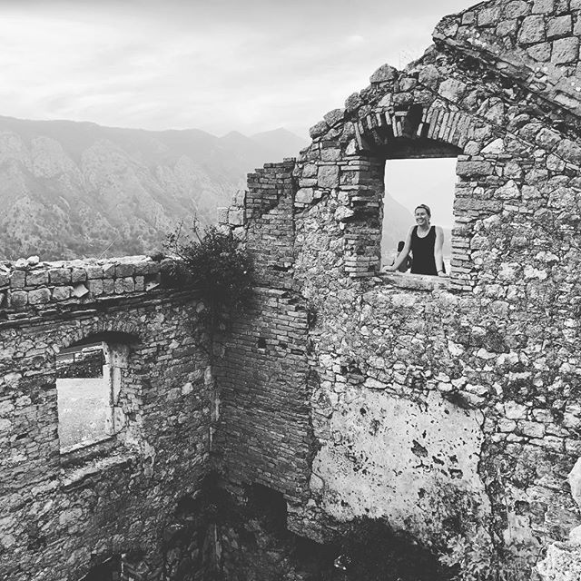 My gurl. Love you! • • • #backpacking #adventure #traveler #travel  #mothernature #explore #traveltogether #lifewelltravelled #traveloften #explore #panorama #hitchhiking #wildcamping  #kotor #kotormontenegro #kotorfortress #montenegro #exploremontenegro #adriatic #fortress #hiking #balkan #balkans #blackandwhite  #mygurl #girlfriend #bestie #loveyou